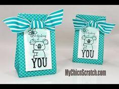 Kind Koala Bag.   Background stamp.   Gorgeous colors!!!