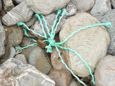 twine and rocks Twine, Rocks, Sea, Ocean, Stone, Cord, Stones