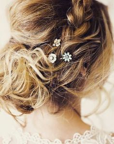 Just the right amount of #sparkle - #hair #style #accessories #braids #updo #chloeandisabel