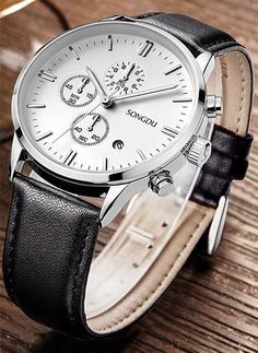 SONGDU Calfskin Chronograph WS – His Watch Company