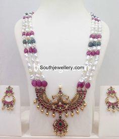 Pearls Mala with Peacock Pendant photo