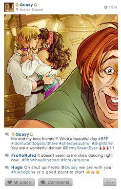 Voila une superbe question dont la réponse nous est apportée en illustrations par l'artiste italienne Simona Bonafini. Des personnages de Disney avec un compte Instagram, ça donne quoi ? Que fait la princesse Aurore, que fait Raiponce, que fait Elsa ? Et bien regardez, c'est super drôle et très…