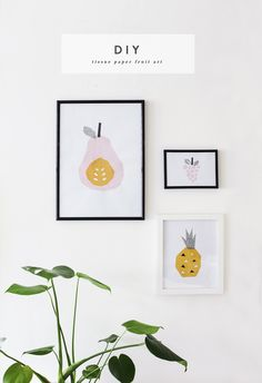 Feeling fruity? DIY tissue paper abstract art tutorial - simple idea for making your walls pretty. By The Lovely Drawer.