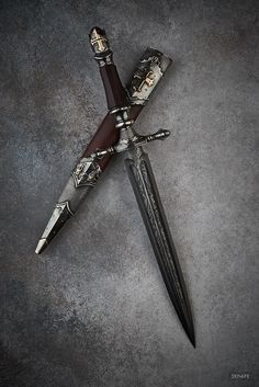 Cerimonial Dagger, not sure what ceremony though Pretty Knives, Cool Knives, Swords And Daggers, Knives And Swords, Katana, Dagger Knife, Medieval Weapons, Weapon Concept Art, Arm Armor
