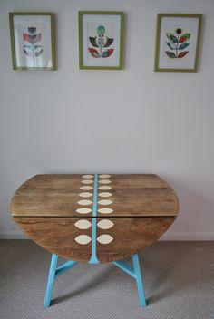 Antique Gate Leg Drop Leaf Table Shabby By Vintageideology