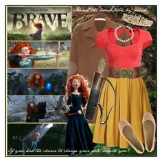 """""""I don't want to get married, I want to stay single and let my hair flow in the wind as I ride through the glen firing arrows into the sunset!"""" by celestechrysanthemum ❤ liked on Polyvore featuring Marni, Merida, Orla Kiely, Bardot, Wet Seal, Chanel, MAC Cosmetics, Vera Wang Lavender Label, TIARA and brave"""