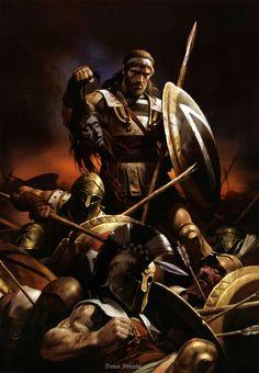 Nikolai Zubkov. Spartan at Thermopylae