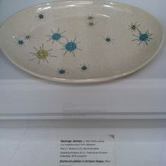 Atomic platter.  Also from California Design at LACMA.  I have this same set that was my grandma's.