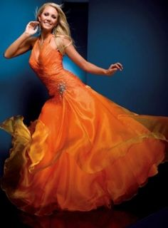 Orange.  squidoo.com/stunning-dresses-and-gowns