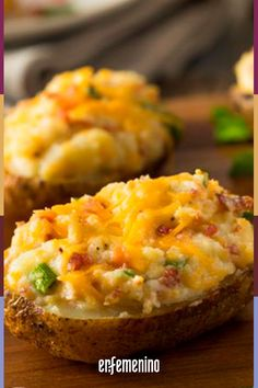 These aren't your average twice-baked potatoes. They take a lot of extra work, but with tons of crispy bacon, cheese, sour cream and green onions, these are delicious beyond belief. Bacon Wrapped Potatoes, Twice Baked Potatoes, Easy Stuffed Cabbage, Baked Potato Recipes, Baked Vegetables, Moussaka, Potato Skins, Potato Dishes, Avocado Recipes