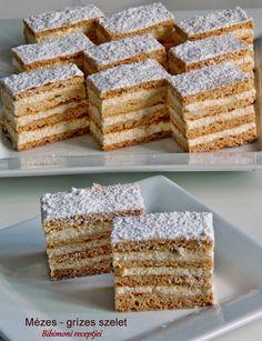 Mézes - grízes szelet | Bibimoni Receptjei Krispie Treats, Rice Krispies, Vanilla Cake, Cooking, Recipes, Food, Candy, Yummy Cakes, Bakken