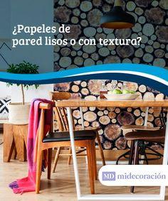 Papeles de pared: ¿lisos o con textura?  Los papeles de pared son un poderoso aliado de la decoración de interiores. En este artículo te hablamos sobre los lisos y los de textura. Además, te ayudamos a elegir. #papeles #pared #textura #decoración #interiores