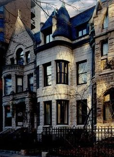 Greystone townhouses, Gold Coast, Chicago, Illinois.
