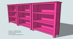 bookshelves for kids toy storage- free plans Kids Bedroom Furniture, Furniture Plans, Diy Furniture, Building Furniture, Woodworking Projects For Kids, Diy Wood Projects, Woodworking Plans, Carpentry Projects, Woodworking Machinery