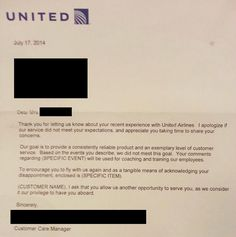 General letter of apology apology letter templates pinterest united airlines writes the most sentimental apology letters spiritdancerdesigns Image collections