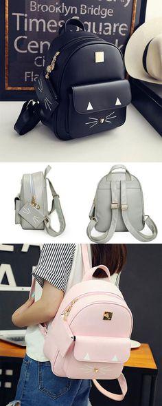 ac754151c033b Cute Cartoon Backpack Casual Leather Cute Rucksack Shoulder School Bag Bags  for big sale ! #
