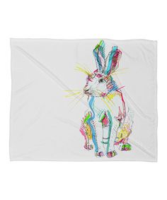 This Hare Fleece Throw is perfect! #zulilyfinds