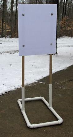 Lightweight PVC Target Stands - INGunOwners, could be used as a sign Metal Shooting Targets, Shooting Guns, Shooting Sports, Outdoor Shooting Range, Shooting Bench, Rifle Targets, Pistol Targets, Hidden Gun, Target Practice