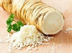 Sinus Remedies How To Eat Horseradish For Effective Pain Relief, Sinus Remedy And Cancer Prevention - This root vegetable has been used for thousands of years in herbal medicine as a remedy for many different physical ailments . Sinus Remedies, Allergy Remedies, Home Remedies, Natural Remedies, Reduce Cholesterol, Cholesterol Diet, Cholesterol Levels, Candida Albicans, Horseradish Recipes