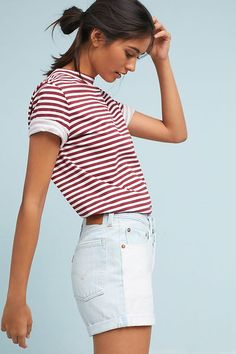 Levi's 501 High-Rise Two-Toned Denim Shorts