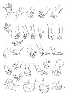 Hands can be really tricky. I've got pages and pages of hand studies in my sketchbooks but already had these scanned so they were easier to organise! Hope they help!