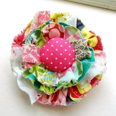 Fabric Scrap Flower