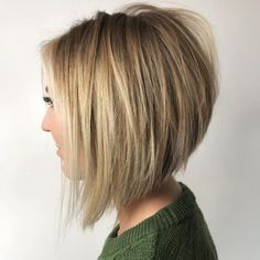 """458 Likes, 8 Comments - OWNER/STYLIST @_avesalon (@styled_by_carolynn) on Instagram: """"Bobbed for life right ??? #btconeshot_boblob18 #behindthechair #bob #lob #blondebob…"""""""