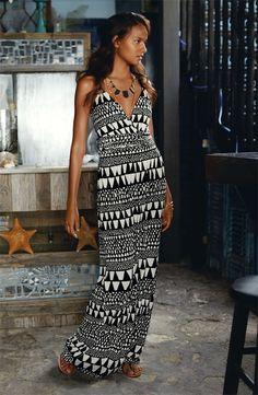 Vince Camuto 'Geo Stripe' Maxi Dress
