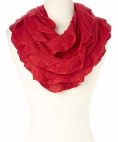 Another great find on #zulily! Cranberry Ruffle Infinity Scarf by Get Dressed #zulilyfinds
