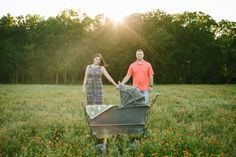 Whitley + Brice + One = Maternity Photos by Brant Smith Photography with our vintage baby carriage.  We so love these beautiful photos!