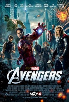 Samuel L. Jackson, Robert Downey Jr., Chris Evans, Scarlett Johansson, Jeremy Renner, Mark Ruffalo, and Chris Hemsworth in The Avengers (2012)