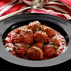 Rich Italian seasonings all rolled into a hearty paleo meatball slow cooked in rich marinara sauce. So good by themselves, or serve on a bed of cauliflower rice. Try this easy crock pot recipe! Link t