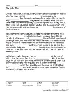 Old Testament Worksheets | Old Testament, Worksheets and Tower Of ...