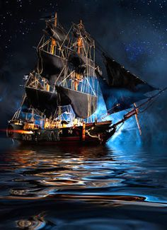 Pirate Ship Wide Angle with Milky Way by:Neil Lockhart