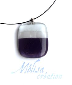 Simple purple fused glass pendant and black wire necklace , women jewelry , jewelry pendant fused glass , handmade jewelry , pendant by MelisaCreation on Etsy https://www.etsy.com/listing/217083697/simple-purple-fused-glass-pendant-and