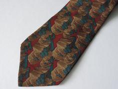 Vintage Necktie Men's 100% Silk Tie Jerry Garcia J Garcia Art in Neckwear Designer Neck Tie Stonehenge Ltd Desert Storm Collection Six