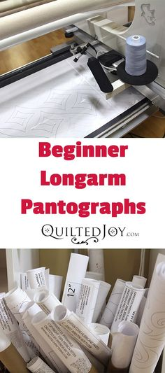 Many new longarm quilters will start with edge to edge quilting patterns called pantographs. Here are some of my favorite pantos for new longarm quilters Grace Quilting Frame, Quilting Frames, Quilting Stencils, Quilting Room, Longarm Quilting, Free Motion Quilting, Quilting Tips, Quilting Tutorials, Beginner Quilting