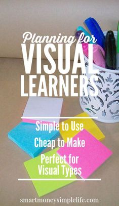 Planning for Visual Learners | Over the years I've spent hundreds, perhaps thousands of dollars on planners and diaries. Most of that money was wasted. Why? Because I'm a visual learner. And, traditional diaries and planners just don't quite fit. So, how do you know if you're a visual learner? #VisualLearners Read on… - Smart Money, Simple Life
