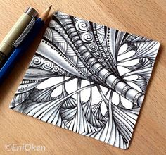 Learn how to shade Zentangle®️️️ with Eni Oken • http://enioken.com