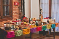 Day of Gal Weddings Mexican sweets table Mexican desert table wedding Downtown Los Angeles Natural Rustic Wedding at the Carondelet House.