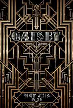 The Great Gasby - Art deco movie title