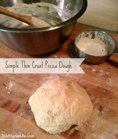 Simple Thin Crust Pizza Dough You'll be amazed at how easy it is to make homemade pizza dough! It's so quick and easy, perfect for pizza, calzones, Stromboli, and more! Healthy Foods To Eat, Healthy Recipes, Yummy Recipes, Dinner Recipes, Thin Crust Pizza, Dough Pizza, Making Homemade Pizza, Good Pizza, Waffle