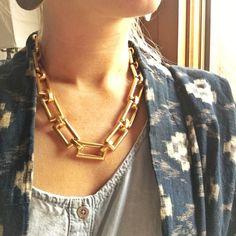 Julie Vos Mondrian Gold Chain Necklace 24 karat gold plate chain necklace Julie Vos Jewelry Necklaces