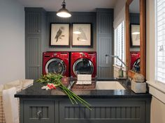 Laundry room pictures, laundry room layouts, basement laundry, laundry in. Laundry Room Pictures, Grey Laundry Rooms, Laundry Room Layouts, Basement Laundry, Laundry Room Storage, Small Laundry, Laundry Room Design, Gray Rooms, Grey Walls