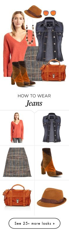 """""""Jeans and pumpkin"""" by danieluska on Polyvore featuring Gap, Etro, FOUR BUTTONS, maurices, Matisse, Proenza Schouler, jeans, jeanjackets and pumpkin"""