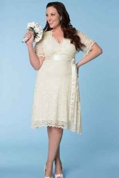 31 Jaw-Dropping Plus-Size Wedding Dresses I like this one, but would want it full length.