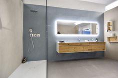 """Résultat de recherche d'images pour """"salle de bain naturofloor"""" Bathroom Lighting, Images, Bathtub, Mirror, Furniture, Home Decor, Bath, Searching, Kitchens"""