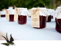 strawberry jam wedding favors