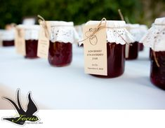 strawberry jam wedding favors
