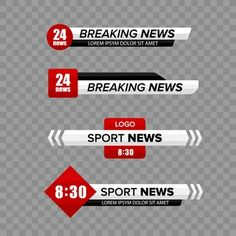 Lower third white and colorful template modern contemporary. News Logo, Live Television, Lower Thirds, Bar Stock, Youtube Logo, Ribbon Banner, Illustrator Tutorials, Photoshop Design, Bar Set